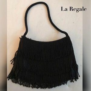 🦀3/$15 La Regale Beaded 3 Tier Fringe Mini Bag